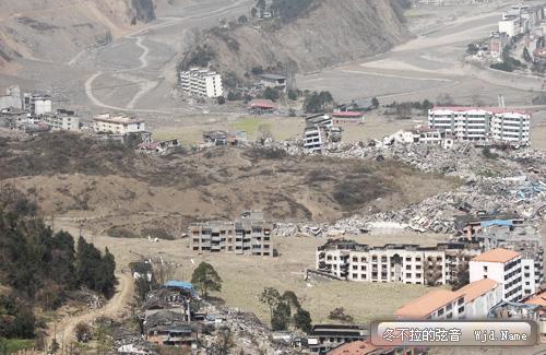 2009年3月,摄于四川北川地震灾区
